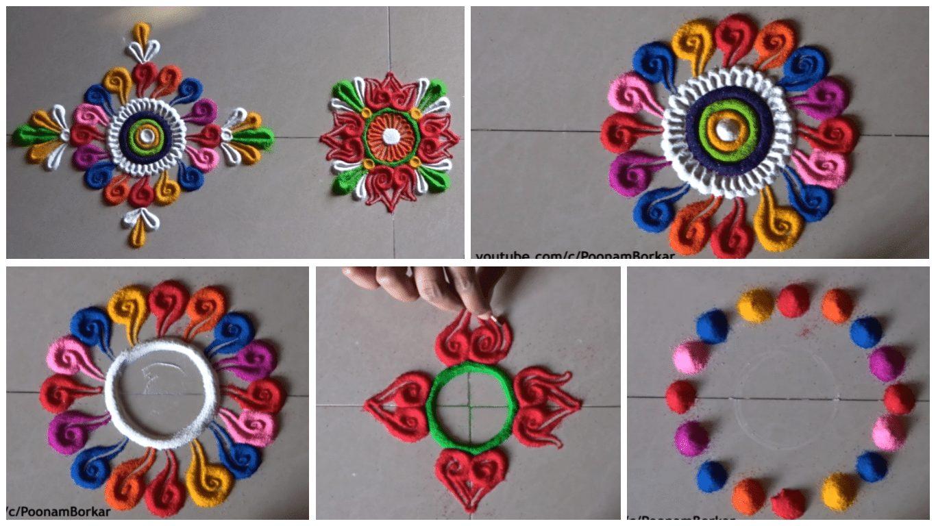 Small, quick and easy rangoli designs