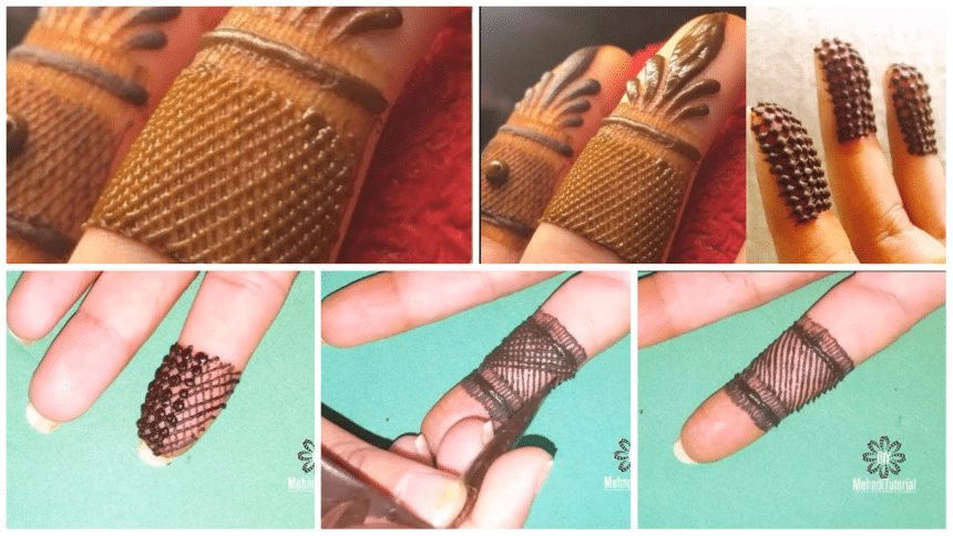 2 easy finger mehndi design