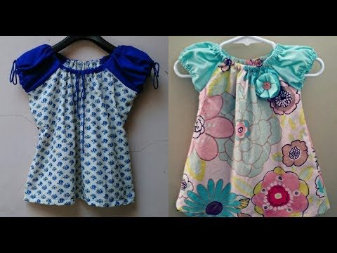 749a0c8fe Latest designer baby frock cutting and stitching - Simple Craft Ideas