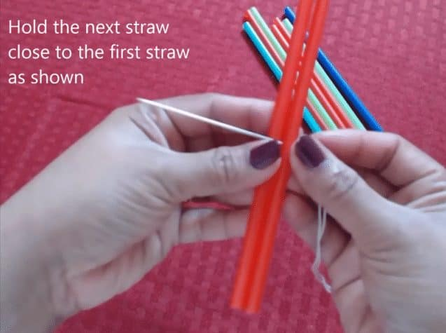 drinking straw spiral hanging