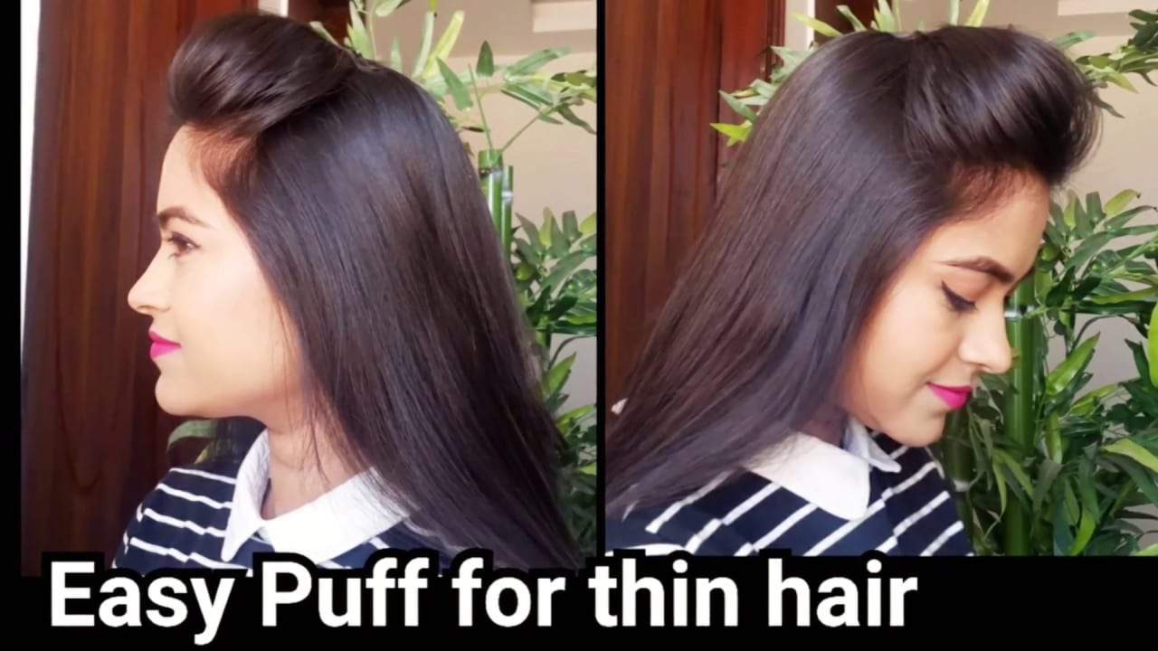 Perfect Puff Hairstyle For Thin Hair Simple Craft Ideas