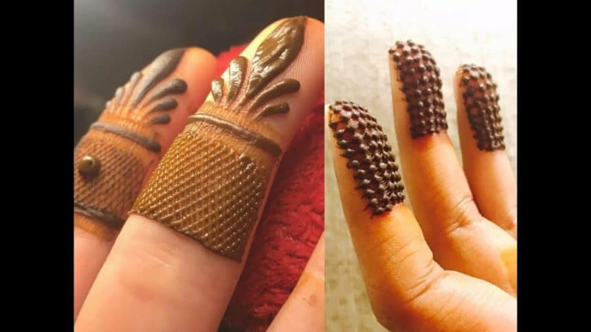Mehndi Designs For Fingers Step By Step : 2 easy finger mehndi design simple craft ideas