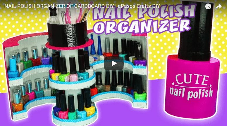 How to make a organizer for nail polish