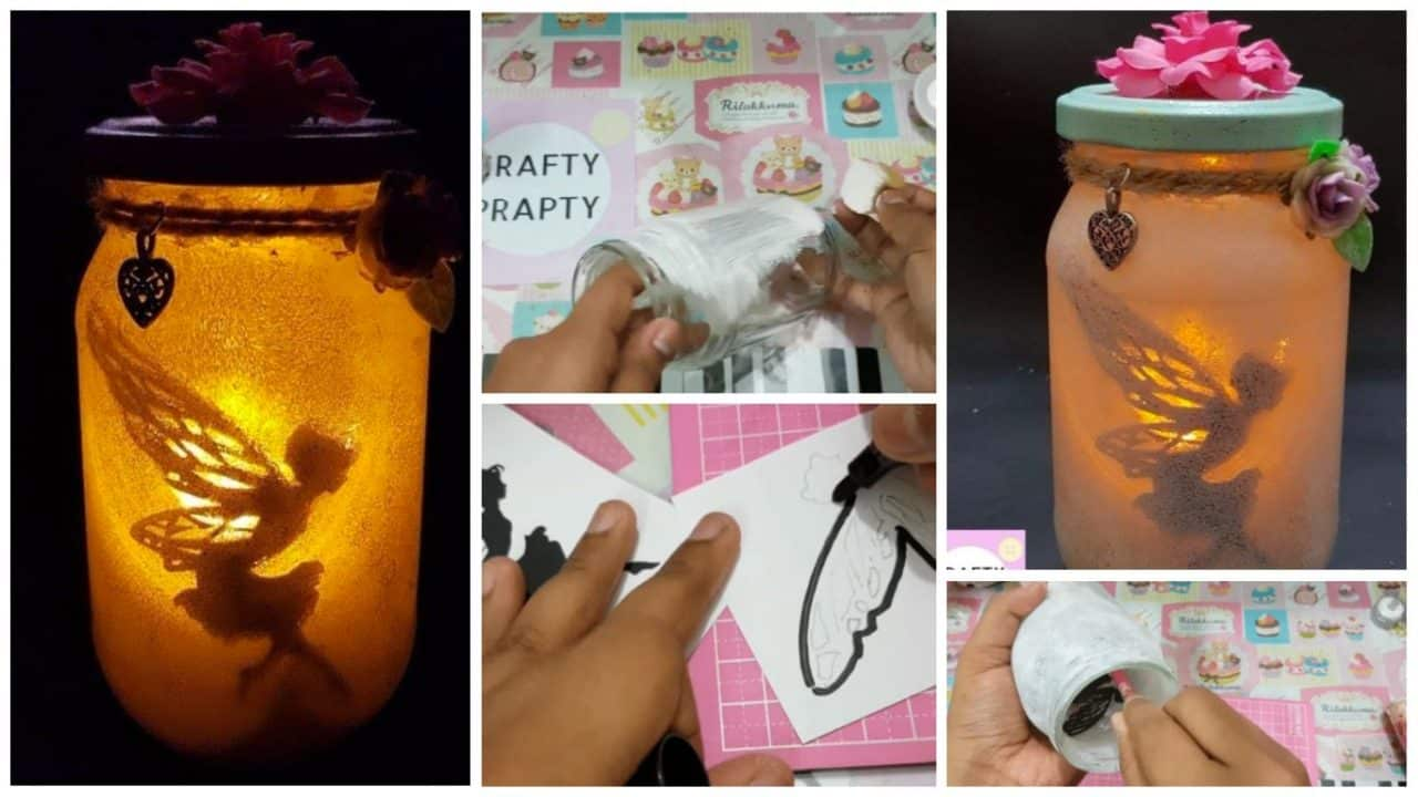 How to make fairy in a jar night light