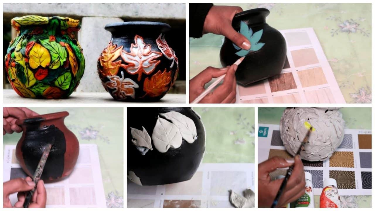 How to do embossed pot painting