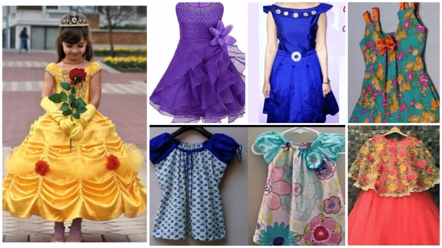 ba477e6c68b9 Latest designer baby frock cutting and stitching - Simple Craft Ideas
