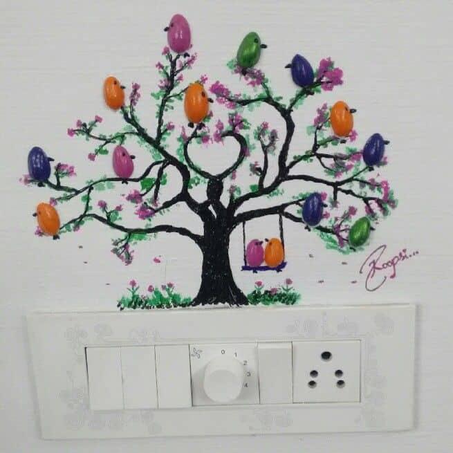 Diy Pista Shell Bird For Wall Decoration Wall Decor Ideas