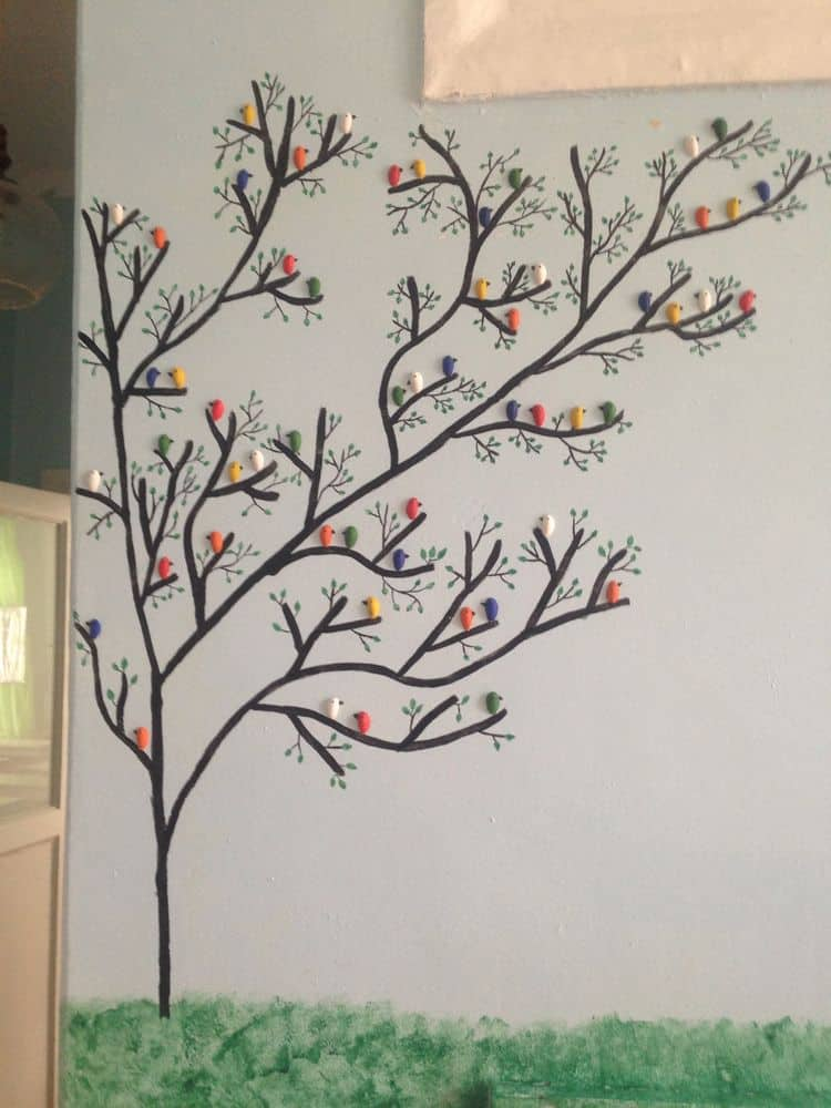 Pista Shell Bird For Wall Decoration Simple Craft Ideas