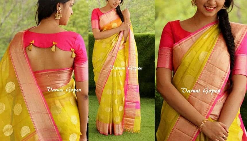 Here is the video of all latest different types of blouse back neck designs showed in photos to wear with your party wedding and daily wear saree