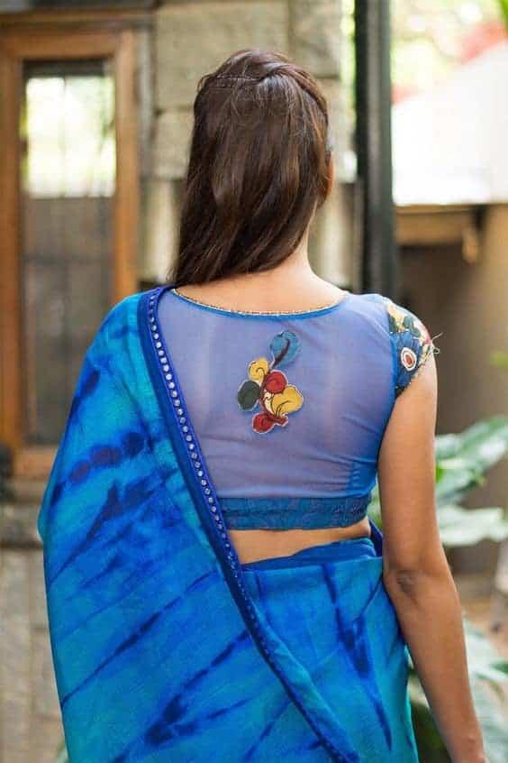 Net blouse front designs