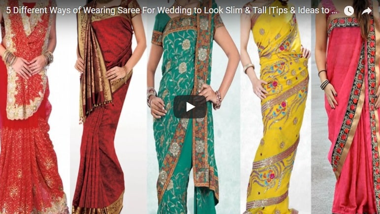 5 Different ways of wearing saree