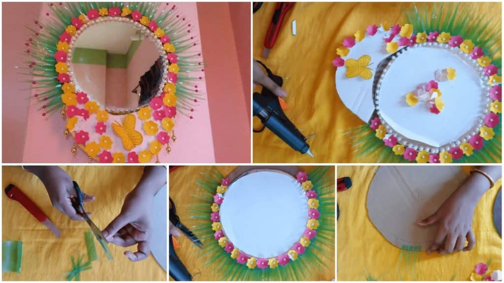 How to make wall hanging with mirror frame