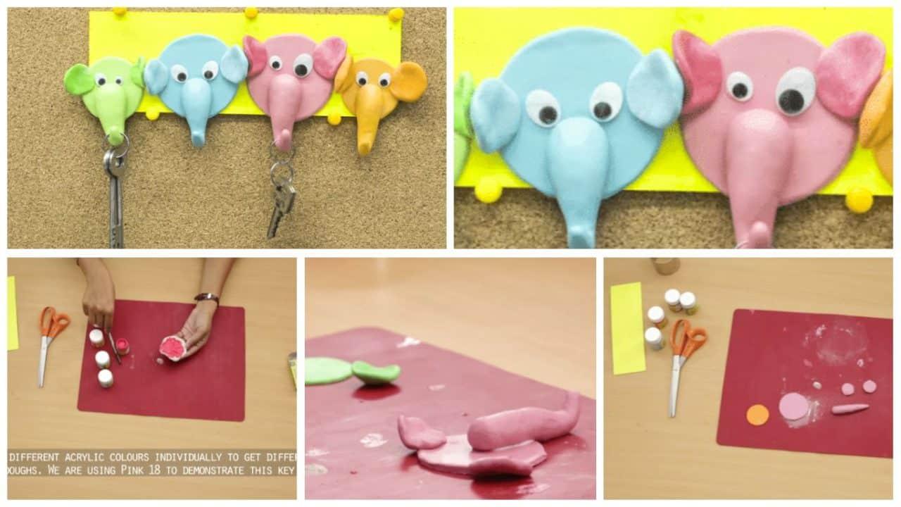 How to make an elephant key holder
