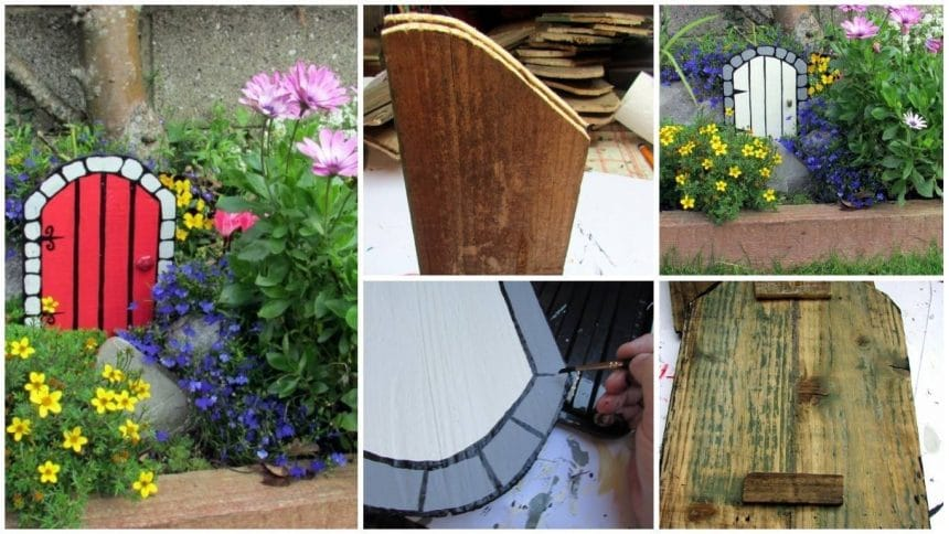 How to make wooden fairy doors for the garden