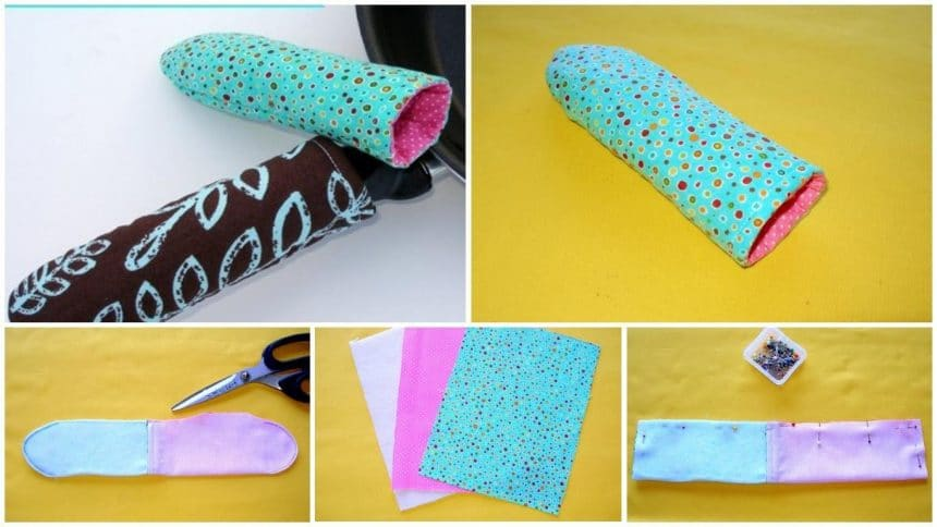 How to sew hot pan handle cover