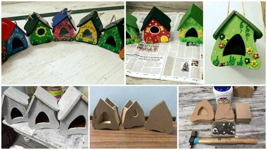 Bird house for hanging in the balcony or garden