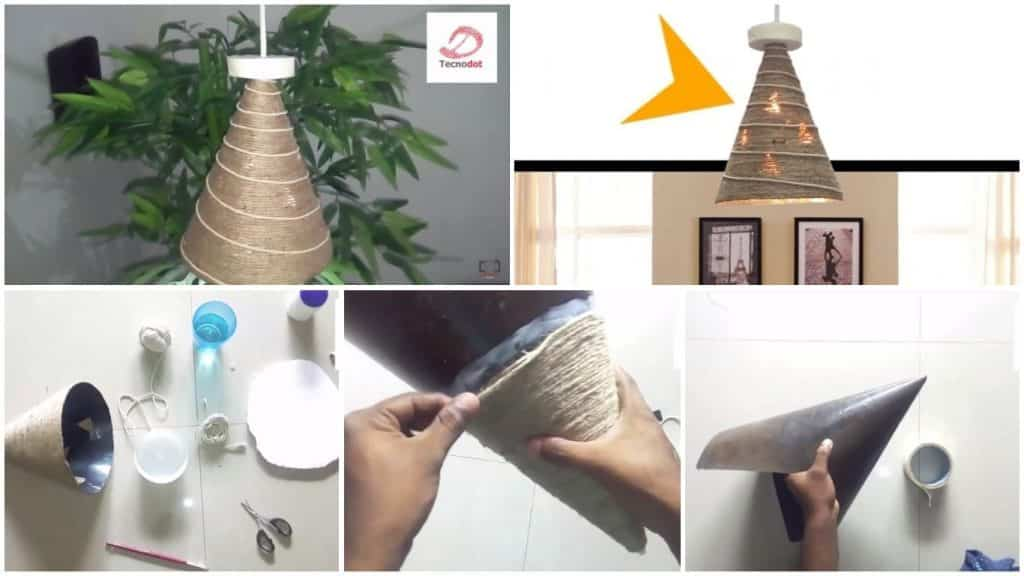 How to make a home made wrapped day lamp for home