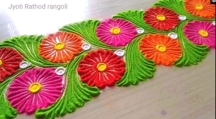 How To Make Easy And Simple Unique Border Rangoli Designs Simple Craft Ideas