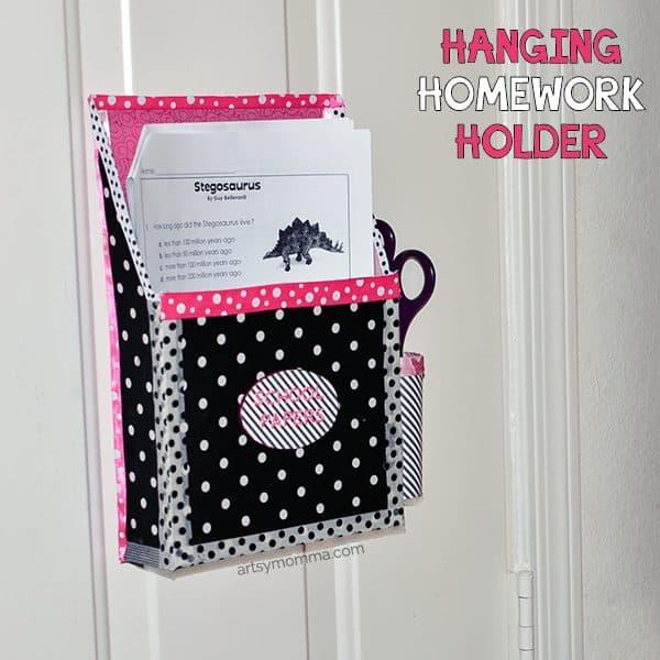 hanging homework holder