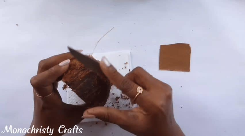 How to do coconut shell craft