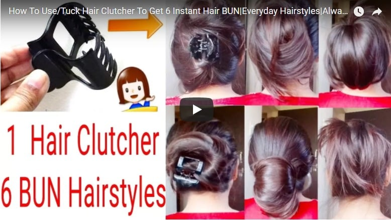 How to use tuck hair clutcher to get 6 instant hair bun