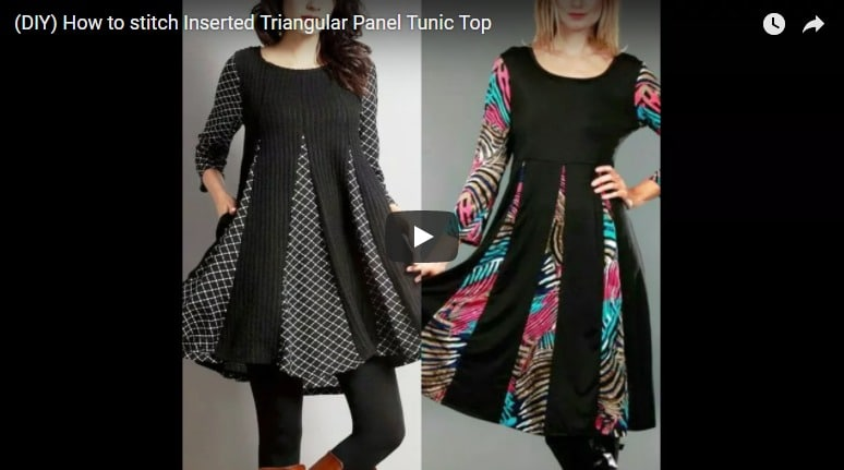 How to stitch inserted triangular panel tunic top