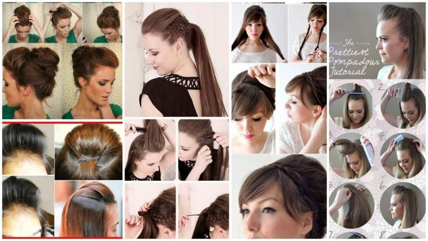 11 Step by step puff hairstyle tutorials