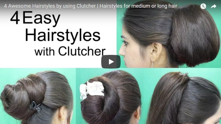 4 Awesome hairstyles by using clutcher