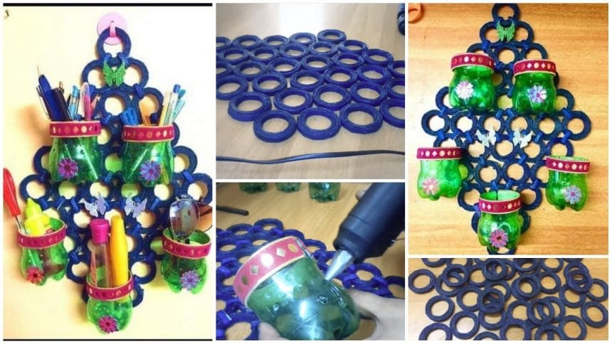 How to make plastic bottle organizer