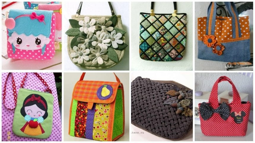 Different types of patchwork handbag