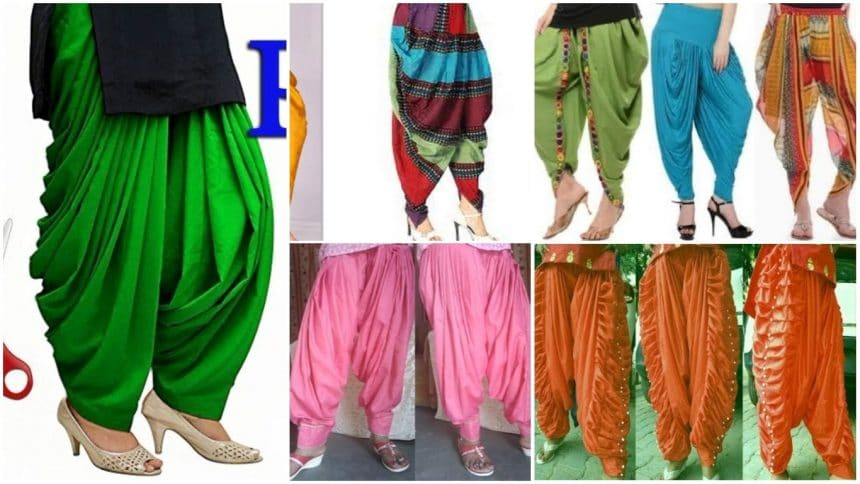 Different types of patiala salwar suits cutting and stitching