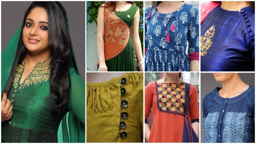 Amazing detail on kurti neck