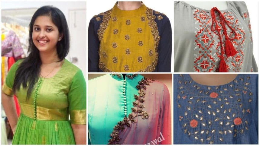 Striking bold kurti patterns