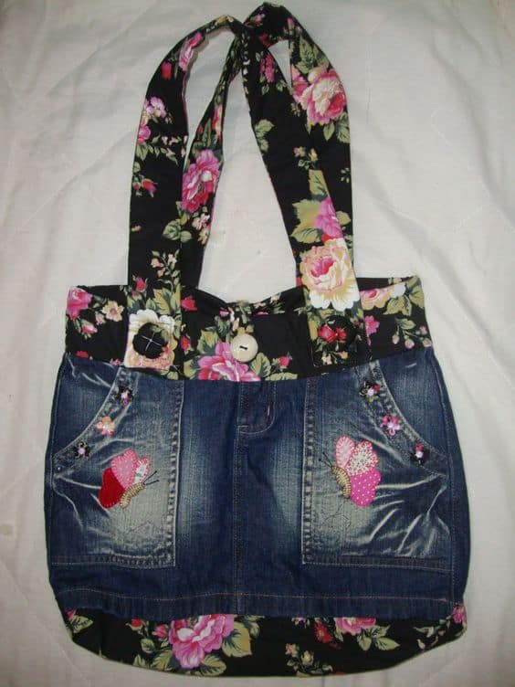 How To Make Bag From Old Jeans Simple Craft Ideas