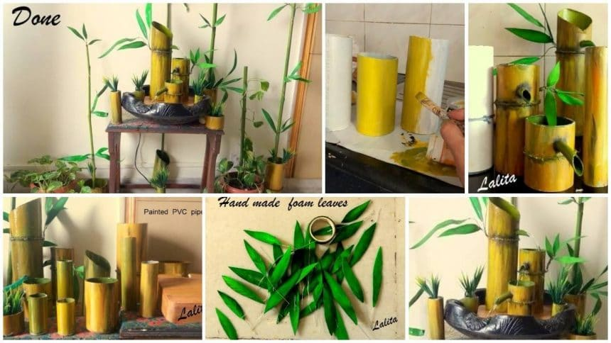 How to make tabletop fountain from pvc pipes