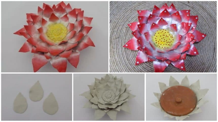 How to make floral diya