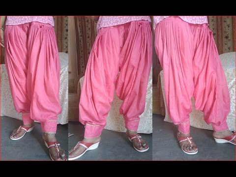 Different types of patiala salwar suits cutting and