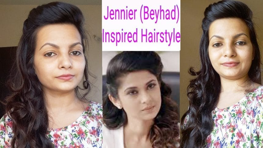 Beyhad Jennifer Winget Inspired Hairstyle Simple Craft Ideas