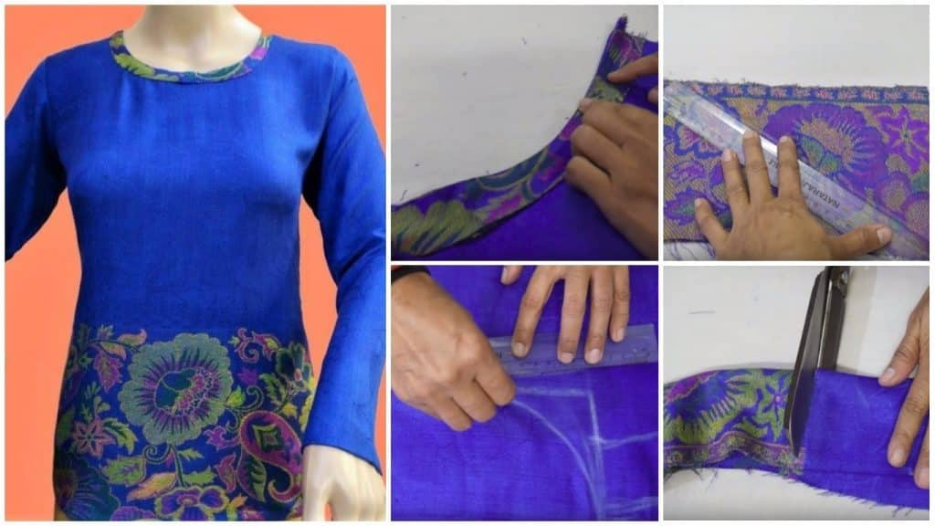 Reuse old shawl to make a beautiful top