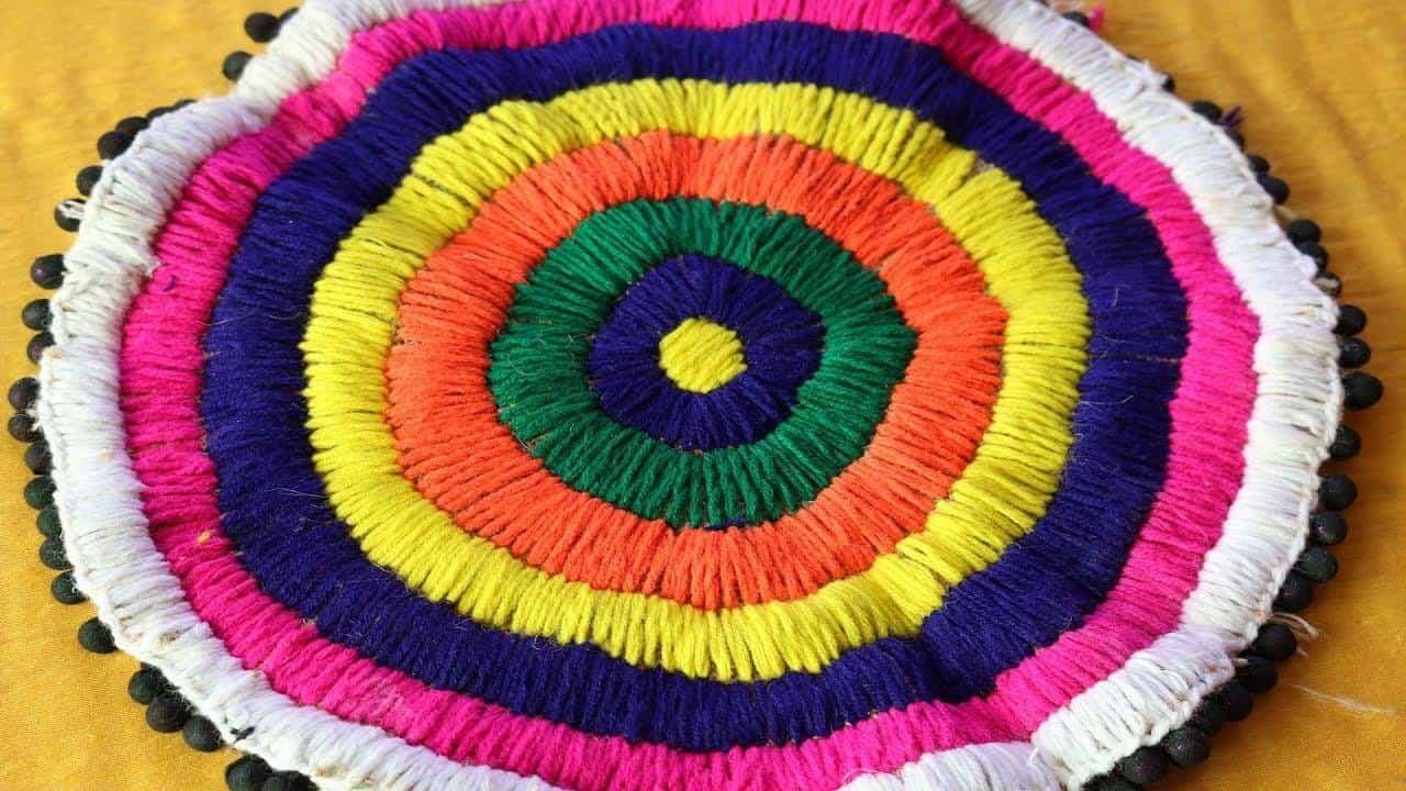 Doormat from waste materials