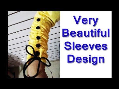 Very beautiful sleeves design making in very easy way