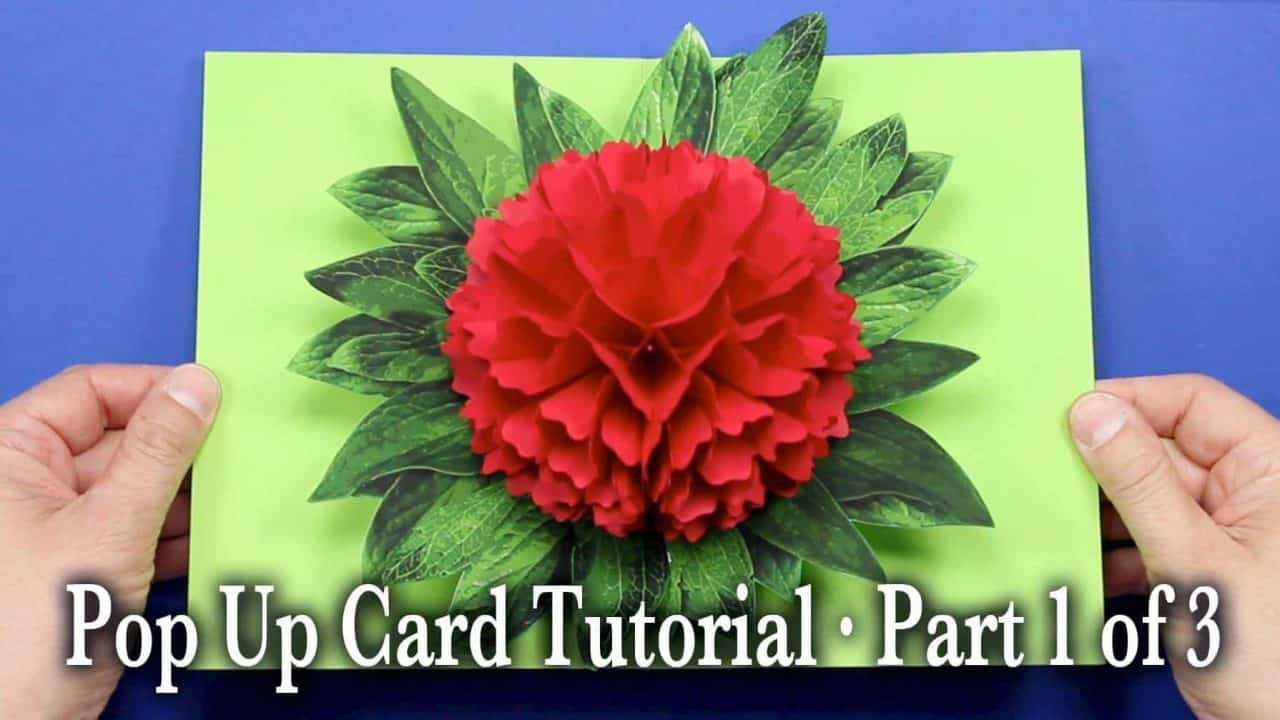 How To Make Flower Pop Up Card Simple Craft Ideas