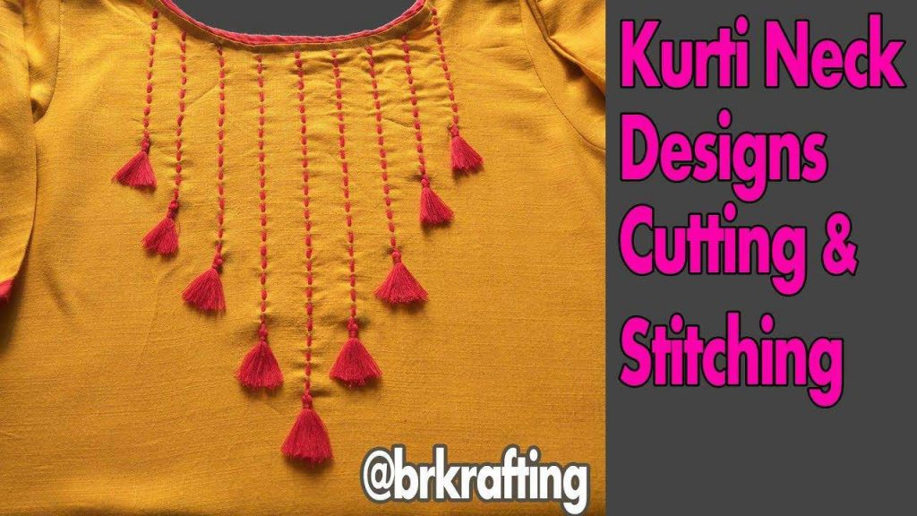 How To Make Kurti Neck Cutting Stitching And Embroideries