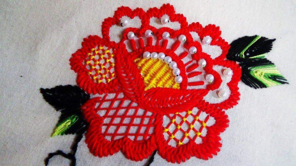 Brazilian embroidery flower
