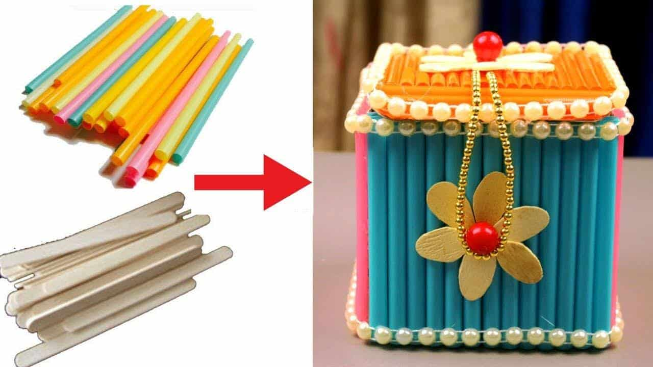 How To Make Jewellery Box At Home With Waste Material Simple Craft