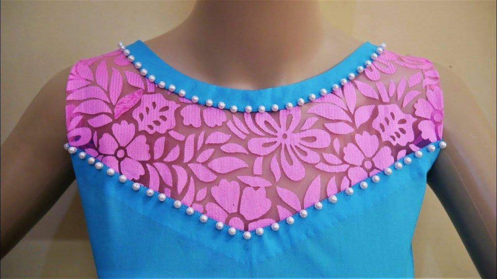 Latest Boat Neck Design With Net For Kurthi Simple Craft Ideas
