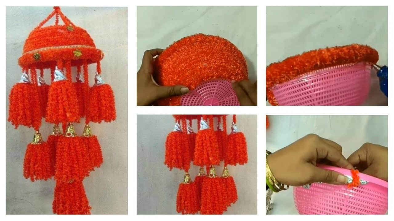 How to make wool jhumar