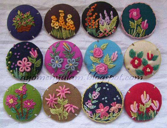 How to make fancy floral buttons for kurtis