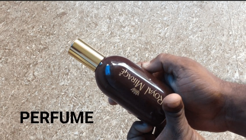 glass bottle using perfume spray