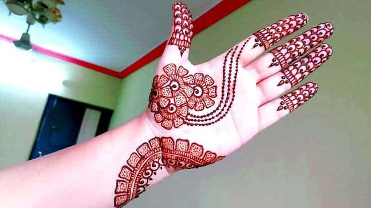 How to make arabic mehndi design - Simple Craft Ideas